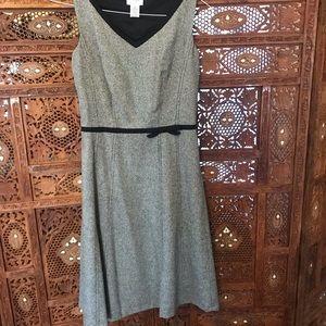 Grey Wool Dress with Faux Belt